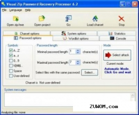 Visual Zip Password Recovery Processor 6.2